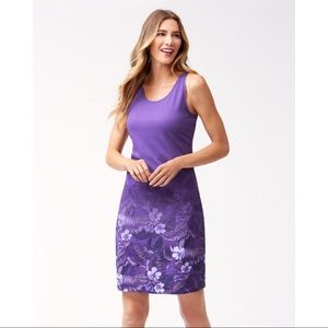 New Tommy Bahama Core Floral Victory Dress, Purple